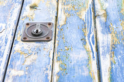 Blue old door of wood texture. Royalty Free Stock Photos