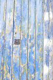 Blue old door of wood texture. Stock Photo