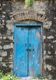 The Blue Old Door Royalty Free Stock Photos