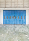 Blue old doors Royalty Free Stock Photo