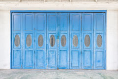 Blue old doors royalty free stock image