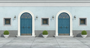Blue old facade Royalty Free Stock Image