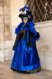 Blue old lady venice mask Royalty Free Stock Photography