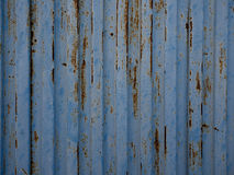 Blue old metal sheet texture. Stock Photo