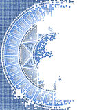 Blue old mosaic Stock Image