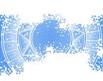 Blue old mosaic Stock Photo