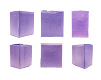 Blue Old packaging cardboard Stock Image