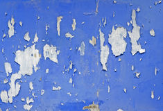 Blue old painted wall Royalty Free Stock Photography