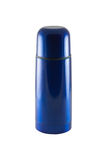 Blue old thermos. Royalty Free Stock Image