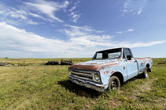 Blue Old Truck Royalty Free Stock Images