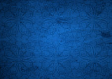 Blue old vintage Christmas paper Royalty Free Stock Photography