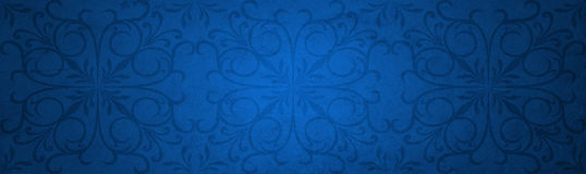 Blue old vintage Christmas paper banner Royalty Free Stock Photography