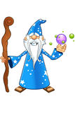 Blue Old Wizard Character Stock Photos