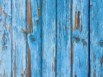 Blue old wooden background Royalty Free Stock Images
