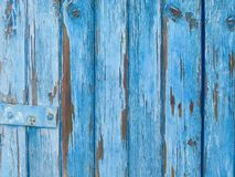 Blue old wooden background Stock Image