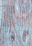 Blue old wooden boards Grange as a background texture. peeling paint. Copy space. Vertical orientation. Royalty Free Stock Photo