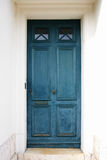 Blue old wooden door Stock Image