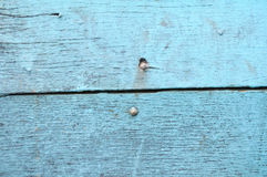 Blue old wooden fence Royalty Free Stock Photos