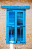 Blue old wooden window shutters. Royalty Free Stock Images