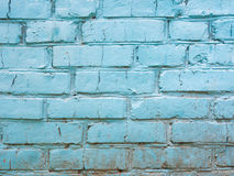 Blue old and worn brick wall. Background Royalty Free Stock Photo