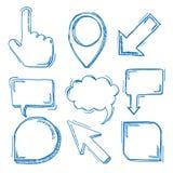 Blue Oldschool Markers Set Stock Image