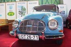 Blue oldtimer. BUDAPEST - APRIL 16: Blue front of an Audi DKW 3=6 Sonderklasse Coup Royalty Free Stock Images