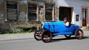 Blue oldtimmer. XIV. International oldtimer rallye 500 km Slovakia - BNC Cyclecar - 1929 - Bernard Guire - French Royalty Free Stock Photos