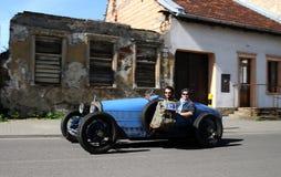 Blue oldtimmer Bugatti Stock Images