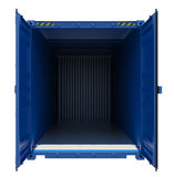 Blue open shipping container Royalty Free Stock Image