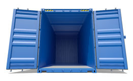 Blue open shipping container Stock Image