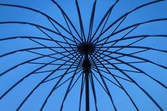 Blue opened umbrella Royalty Free Stock Image