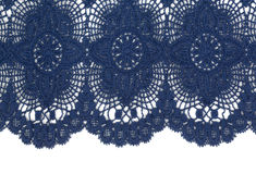 Blue openwork lace Royalty Free Stock Photography