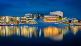 Blue opera. Oslo's Opera House in the blue hour, long exposure royalty free stock images