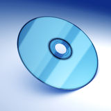 Blue optical disk Royalty Free Stock Photos
