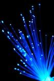 Blue optical fibers Royalty Free Stock Image