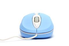 Blue Optical Mouse Stock Photography