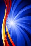 Blue and Orange Royalty Free Stock Photo