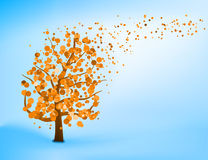 Blue orange abstract tree template. EPS 8 Royalty Free Stock Images