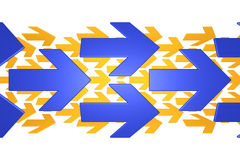 Blue and orange arrows Royalty Free Stock Image