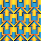 Blue and orange arrows pattern royalty free illustration