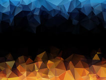 Blue orange black abstract background Stock Photos