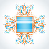 Blue and orange brooch. Stock Photography