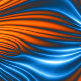 Blue orange cell design Stock Photography