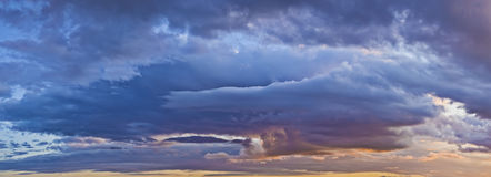 Blue and orange clouds Royalty Free Stock Photo