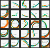 Blue and orange color line abstract background Stock Photography