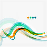 Blue and orange color line abstract background. Modern wave template Royalty Free Stock Photography