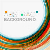 Blue and orange color line abstract background. Modern wave template Royalty Free Stock Photo