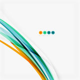Blue and orange color line abstract background. Modern wave template Stock Image