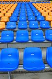 Blue and orange color seat Royalty Free Stock Photos