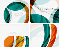 Blue and orange color shapes. Abstract background Royalty Free Stock Photo